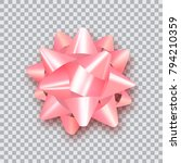 pink bow for packing gifts.... | Shutterstock .eps vector #794210359