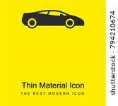 sports car bright yellow...