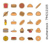 bakery color icon. pastry.... | Shutterstock .eps vector #794212105