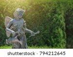 Portrait Cupid Figure With...