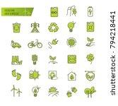 ecology  green technology ... | Shutterstock .eps vector #794218441