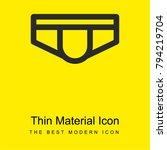 man underwear bright yellow...