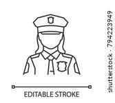 policewoman linear icon. police ... | Shutterstock .eps vector #794223949