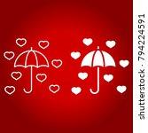love umbrella line and glyph... | Shutterstock .eps vector #794224591
