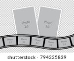 collage of photo frames from... | Shutterstock .eps vector #794225839