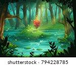 vector cartoon illustration the ... | Shutterstock .eps vector #794228785