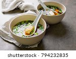 traditional miso soup in two... | Shutterstock . vector #794232835