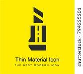 cutter bright yellow material... | Shutterstock .eps vector #794235301