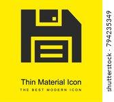 floppy disk bright yellow...   Shutterstock .eps vector #794235349