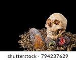human skulls fruit rotten have... | Shutterstock . vector #794237629