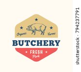 organic farm butchery abstract... | Shutterstock .eps vector #794237791