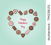 valentine's day chocolate candy ...   Shutterstock .eps vector #794238151
