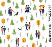 seamless pattern lover people... | Shutterstock .eps vector #794239099