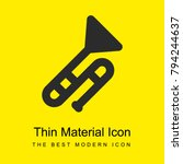 Wind instruments bright yellow material minimal icon or logo design