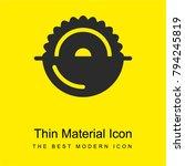 circular saw bright yellow...