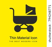 baby stroller bright yellow... | Shutterstock .eps vector #794248771