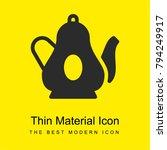 teapot bright yellow material...