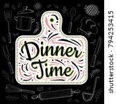food poster print lettering....   Shutterstock .eps vector #794253415