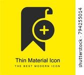 bookmark bright yellow material ...