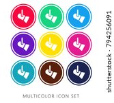 reflector nine color flat and... | Shutterstock .eps vector #794256091