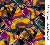 seamless pattern patchwork... | Shutterstock . vector #794256139