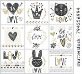 set with vector greeting cards...