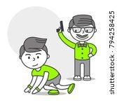 vector sports set running... | Shutterstock .eps vector #794258425