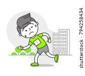 vector sports set running... | Shutterstock .eps vector #794258434