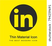 linkedin logo bright yellow...