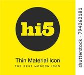 hi5 social logo bright yellow...