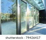 Transparent Door Of Modern...