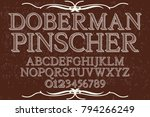 font alphabet script typeface... | Shutterstock .eps vector #794266249
