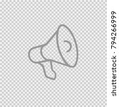 megaphone vector icon eps 10.... | Shutterstock .eps vector #794266999