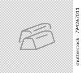 golden brick vector icon eps 10.... | Shutterstock .eps vector #794267011
