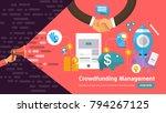 flate design concept promote... | Shutterstock .eps vector #794267125