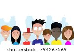 group of smiling teenagers.... | Shutterstock .eps vector #794267569