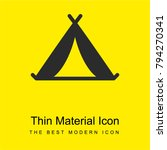 tent bright yellow material...