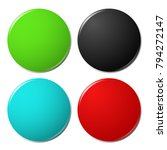 four realistic round color... | Shutterstock .eps vector #794272147