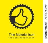 thumb up sign in circular badge ...
