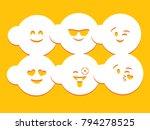 smile stencil card | Shutterstock .eps vector #794278525