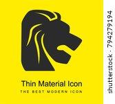 leo zodiac symbol of lion head...