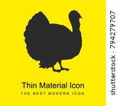 turkey bird shape from side... | Shutterstock .eps vector #794279707