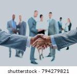 handshake isolated on business... | Shutterstock . vector #794279821