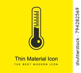thermometer tool bright yellow...