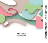 3d abstract background with... | Shutterstock .eps vector #794284981
