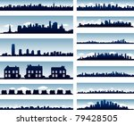 vector city skylines   Shutterstock .eps vector #79428505