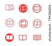 book line icon vector set ....