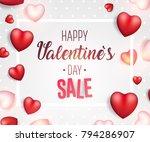 valentine's day sale background....   Shutterstock .eps vector #794286907