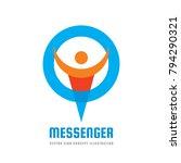 messenger   vector logo... | Shutterstock .eps vector #794290321