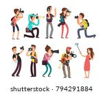funny professional photographer ... | Shutterstock .eps vector #794291884